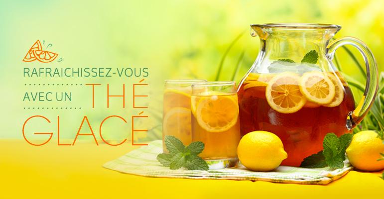 Thé glacé, préparer, préparation, thé, thés