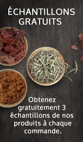 Échantillons thés épices fines-herbes