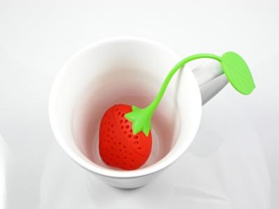 infuseur, fraise, thé