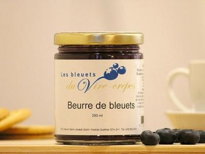Beurre de bleuets, produit du terroir, Les Bleuets du Vire-Crêpe