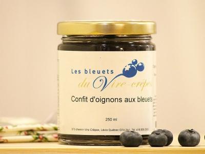 Confit d'oignons aux bleuets, produit du terroir, Les Bleuets du Vire-Crêpe