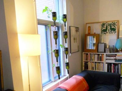 Jardin en bouteilles, BioCité, fenêtre maraîchère, window farm, jardinage intérieur