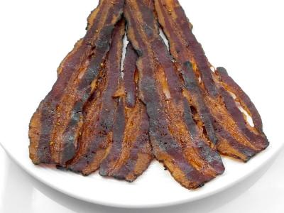 jerky, bacon, poivre, fumé