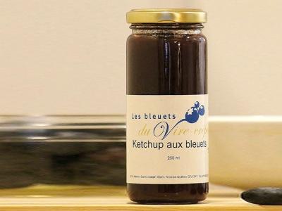 Ketchup aux bleuets, produits du terroir, Les Bleuets du Vire-Crêpe