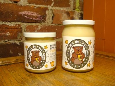 Miel, crémeux, Miels de l'ours brun