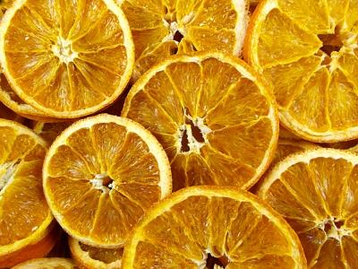 orange séché biologique, orange déshydraté, fruits séchés