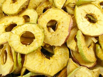 pomme séché biologique, pomme déshydraté, fruits séchés