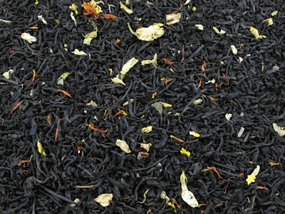 thé, thé noir, rhubarbe