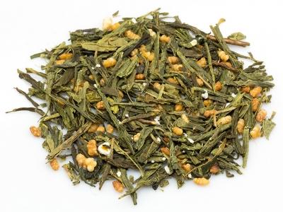 thé, thé vert, genmaicha vert japonais