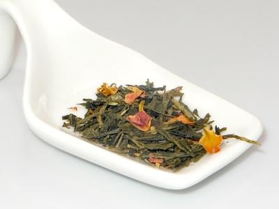 tea, green tea, pomegranate
