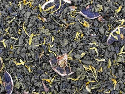 thé vert, thé, punch citronné